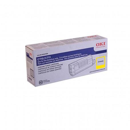 Toner Okidata Amarelo   C711 C711N C711WT   44318601   Original 11.5k