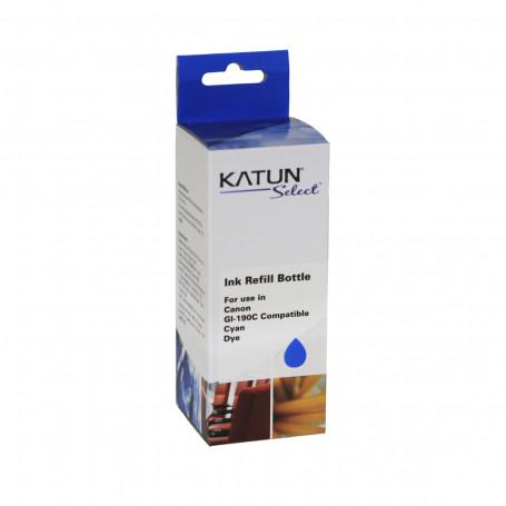 Tinta Compatível com Canon GI-190C Ciano | G3100 G2100 G1100 G4100 | Katun Select 100ml