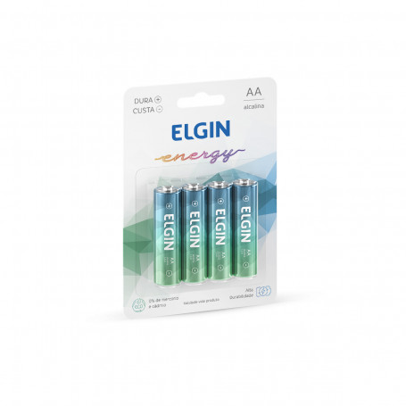 Pilhas Alcalinas Energy AA | 4 Unidades | Elgin