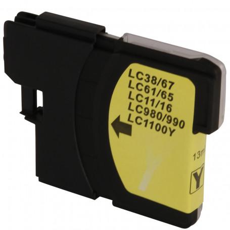 Cartucho de Tinta Brother LC-61Y LC-61 Amarelo   MFC-990CW MFC-490CW DCP-585CW   Compatível 13ml