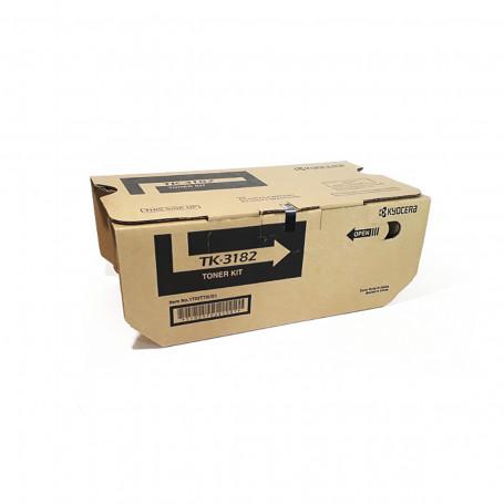 Toner Kyocera TK3182 TK-3182 Preto | M3566IDN P3055DN P3155DN M3566 P3055 P3155 | Original 21k