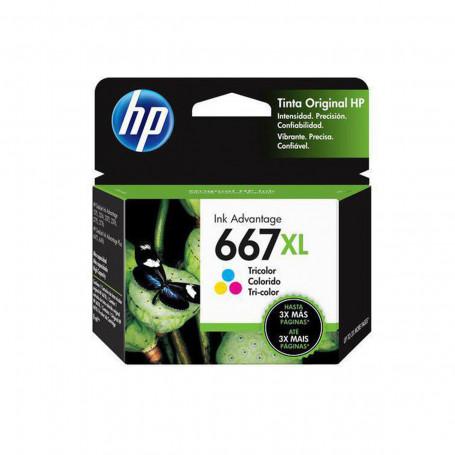 Cartucho de Tinta HP 667XL Color 3YM80L 3YM80AL   Deskjet Ink Advantage 2776   Original
