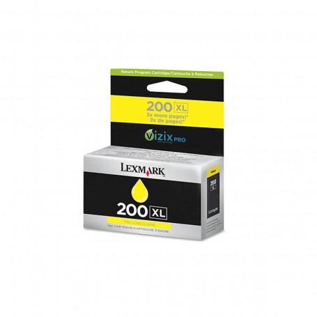 Cartucho de Tinta Lexmark 200XL 14L0177 Amarelo   Pro 5500 Pro 5500T Pro 4000   Original 30,5ml