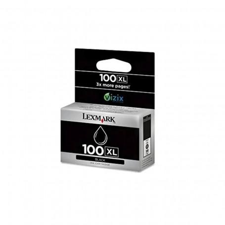 Cartucho de Tinta Lexmark 100XL 14N1068 Preto   Pro 901 705 905 205 709 209 S815   Original 10,6ml