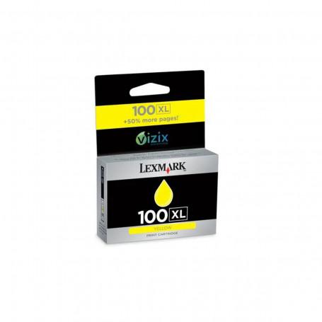 Cartucho de Tinta Lexmark 100XL 14N1071 Amarelo   901 705 905 205 709 209 S815   Original 10,6ml