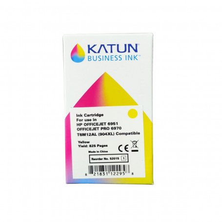 Cartucho de Tinta Compatível com HP 904XL T6M12AL Amarelo   Officejet Pro 6970   katun Business Ink
