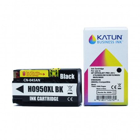 Cartucho de Tinta Compatível com HP 950XL Preto CN045AL   Officejet 251DW 276DW  Katun Business Ink