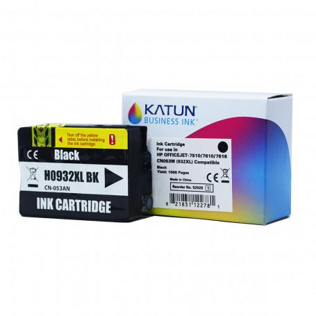 Cartucho de Tinta Compatível com HP 932XL Preto CN053AN   Officejet 7110 7612   Katun Business Ink
