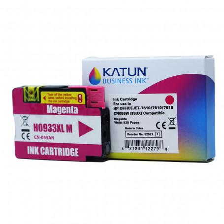 Cartucho de Tinta Compatível com HP 933XL Magenta CN055AN   Officejet 7110 7612   Katun Business Ink
