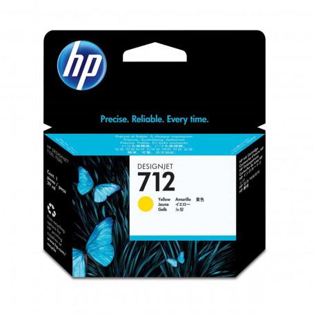 Cartucho de Tinta HP 712 Amarelo 3ED69A | Plotter T250 5HB06A T650 5HB08A 5HB10A | Original 29ml