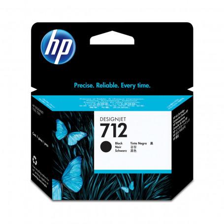 Cartucho de Tinta HP 712 Preto 3ED70A   Plotter T250 5HB06A T650 5HB08A 5HB10A   Original 38ml