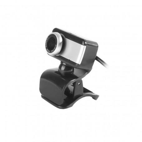 Webcam BrazilPC V4 1.5M | Com Microfone Digital | Preto e Prata