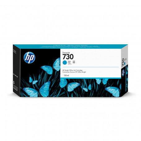 Cartucho de Tinta HP 730 Ciano P2V62A   Plotter HP T1600 T1700   Original 130ml