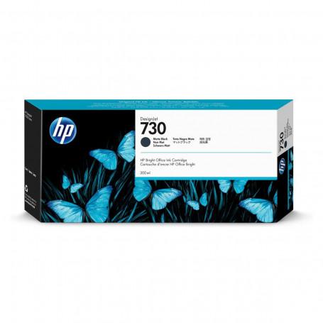 Cartucho de Tinta HP 730 Preto Fosco P2V71A   Plotter HP T1600 T1700   Original 300ml