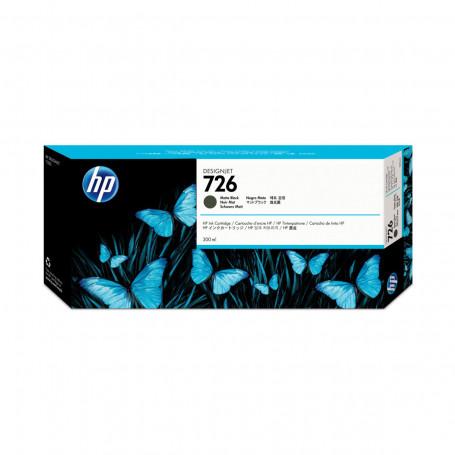 Cartucho de Tinta HP 726 Preto Fosco CH575A   Plotter HP T1200 T795 T1300   Original 300ml
